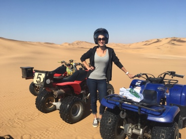 Quadbiking on the sand dunes